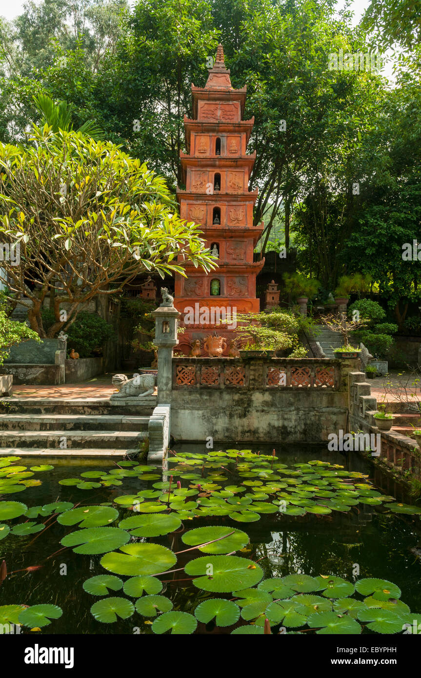 Mountain God Tower, Thanh Chuong Viet Palace, Hanoi, Vietnam Stock ...