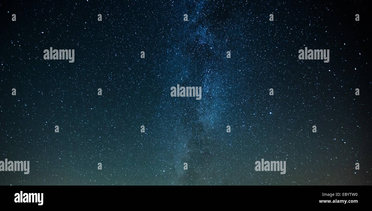 Night sky Milky Way stars background - Stock Image