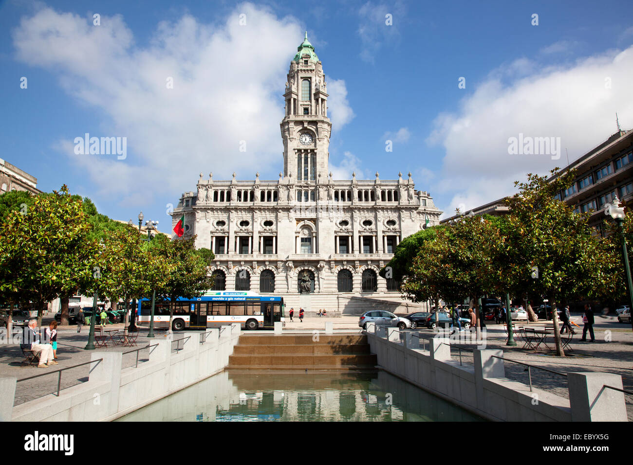 Cåmara Municipal do Porto in Porto Portugal. A Neoclassic bulding designed by the architect Antonio Correia - Stock Image
