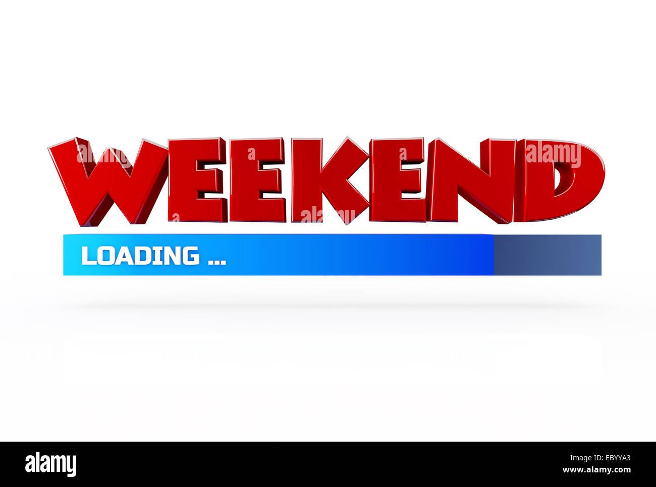 Funny loading stock photos funny loading stock images alamy weekend loading 3d on white background stock image voltagebd Choice Image