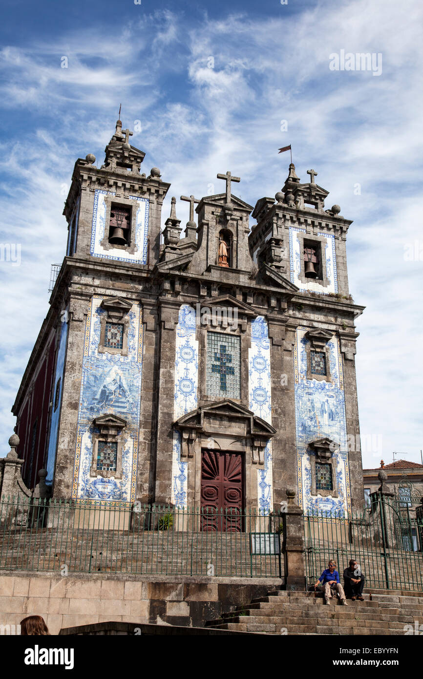 Igreja de Santo Idelfonso Church in Porto, Portugal - Stock Image