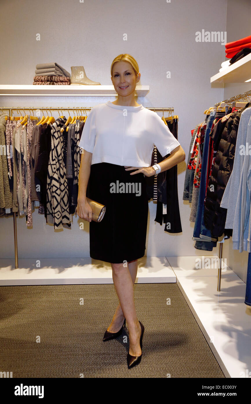 Actress Kelly Rutherford attends the Marc Cain Store Nuremberg 20 Year Anniversary at Marc Cain Store in Nuremberg, - Stock Image