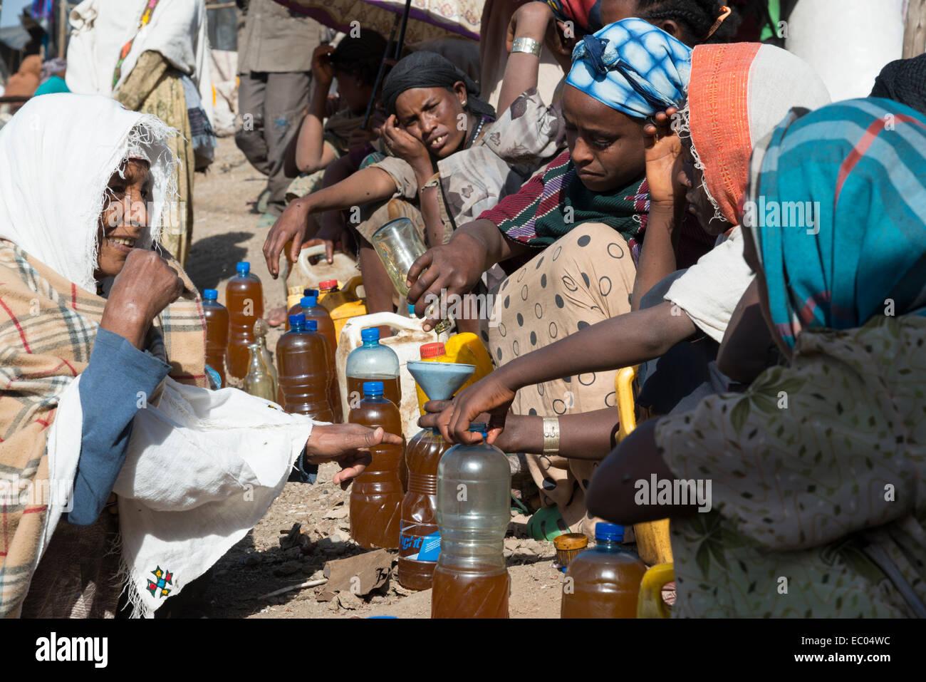 Lalibela weekly market. Northern Ethiopia. - Stock Image