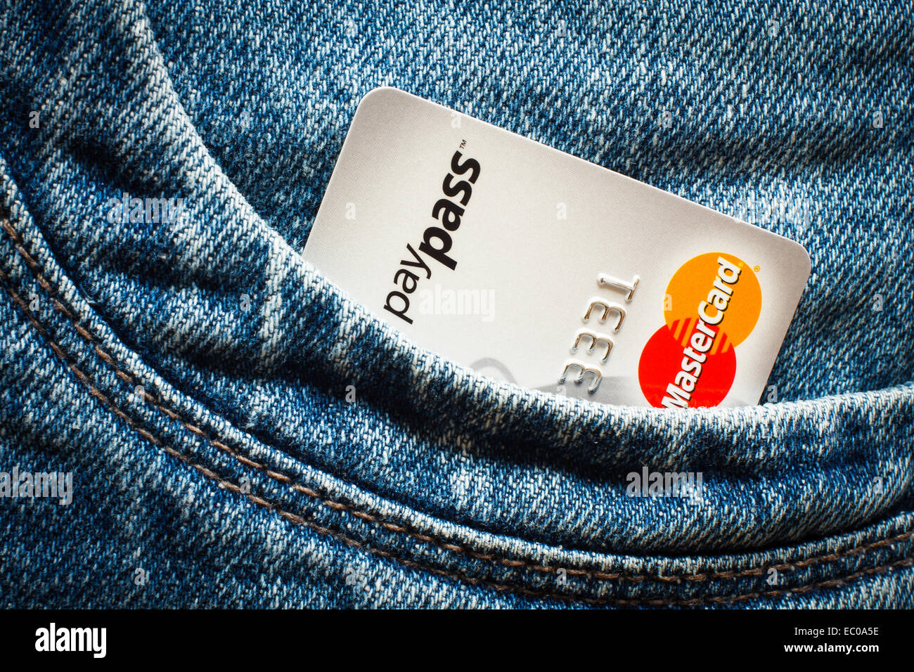 GDANSK, POLAND - 16 APRIL 2014. Credit cards with paypass technology. Editorial use only - Stock Image