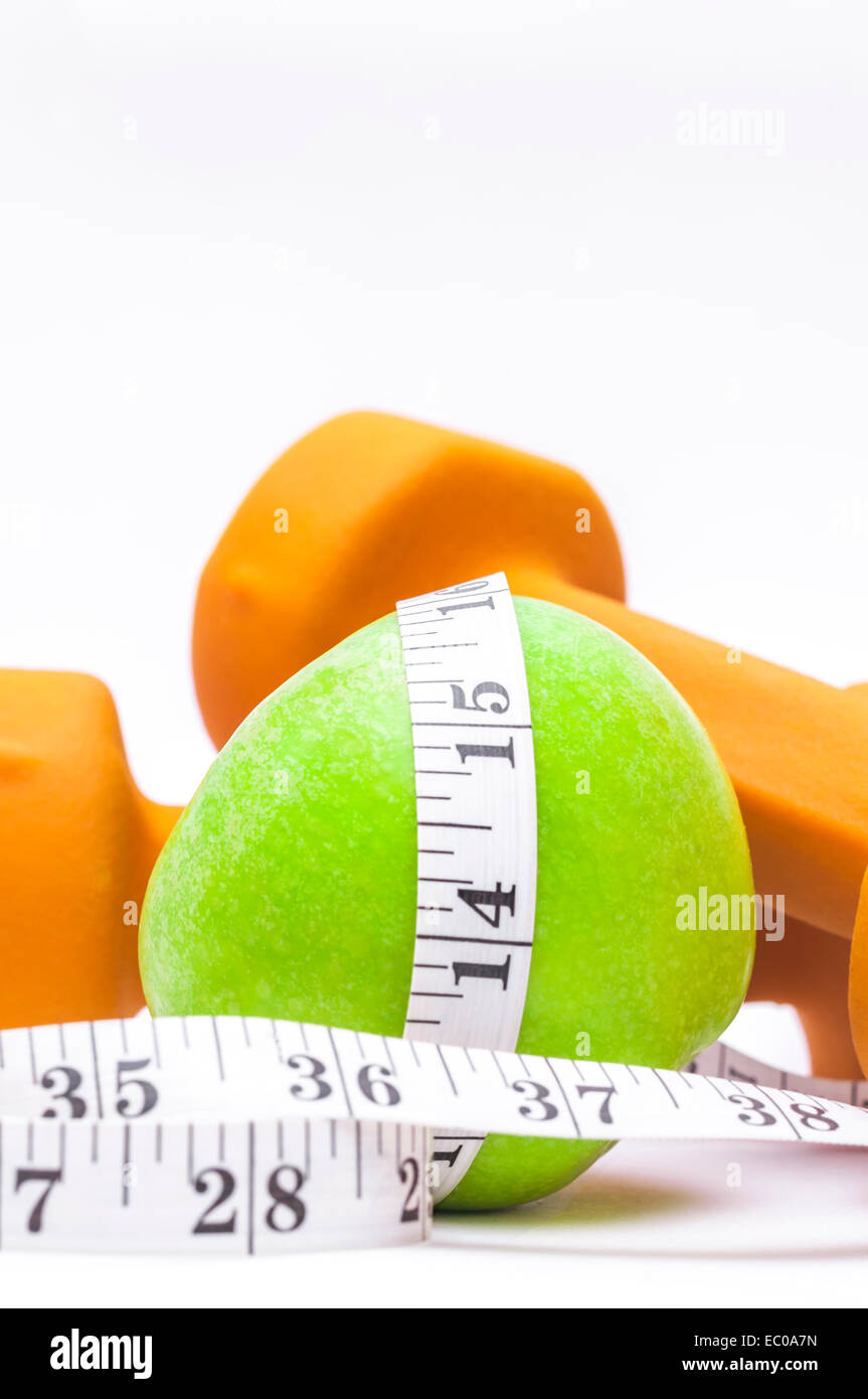 Healthy Living - nutrition & exercising - Stock Image