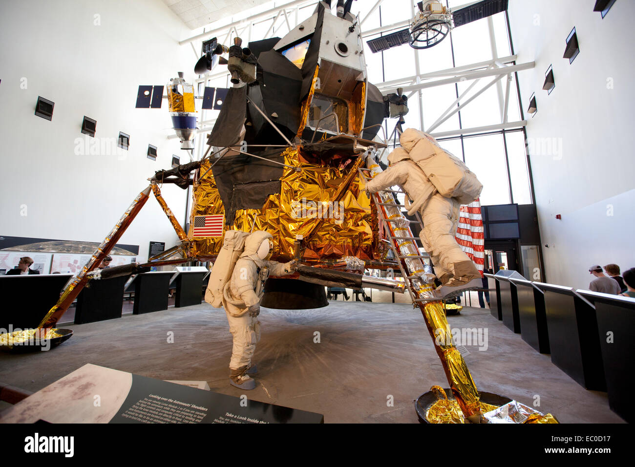 WASHINGTON D.C. - MAY 24, 2014:The Apollo Lunar Module (LM) was a two-stage vehicle designed by Grumman to ferry - Stock Image