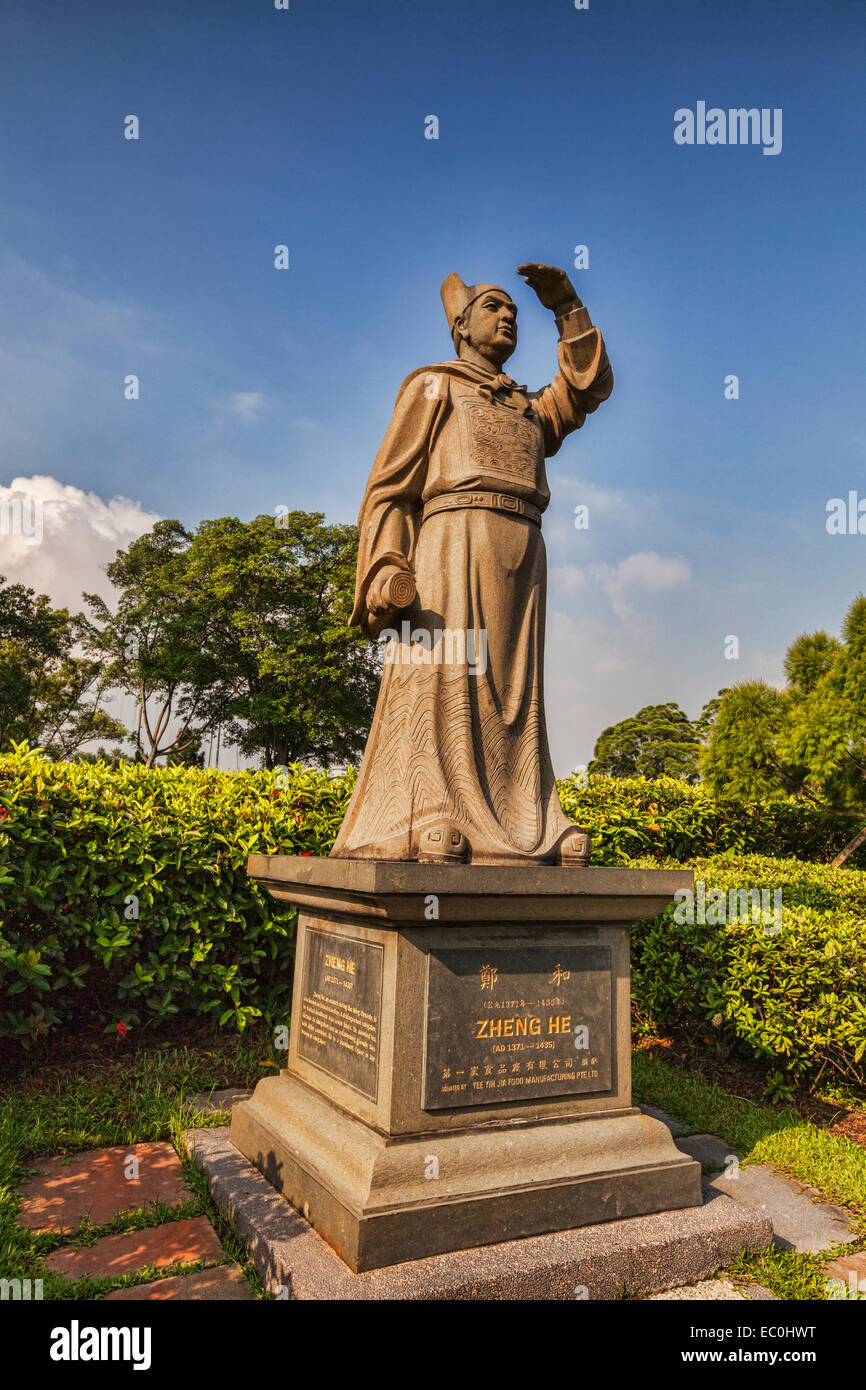 Statue Of Zheng He, Singapore Chinese Garden Stock Photo ...