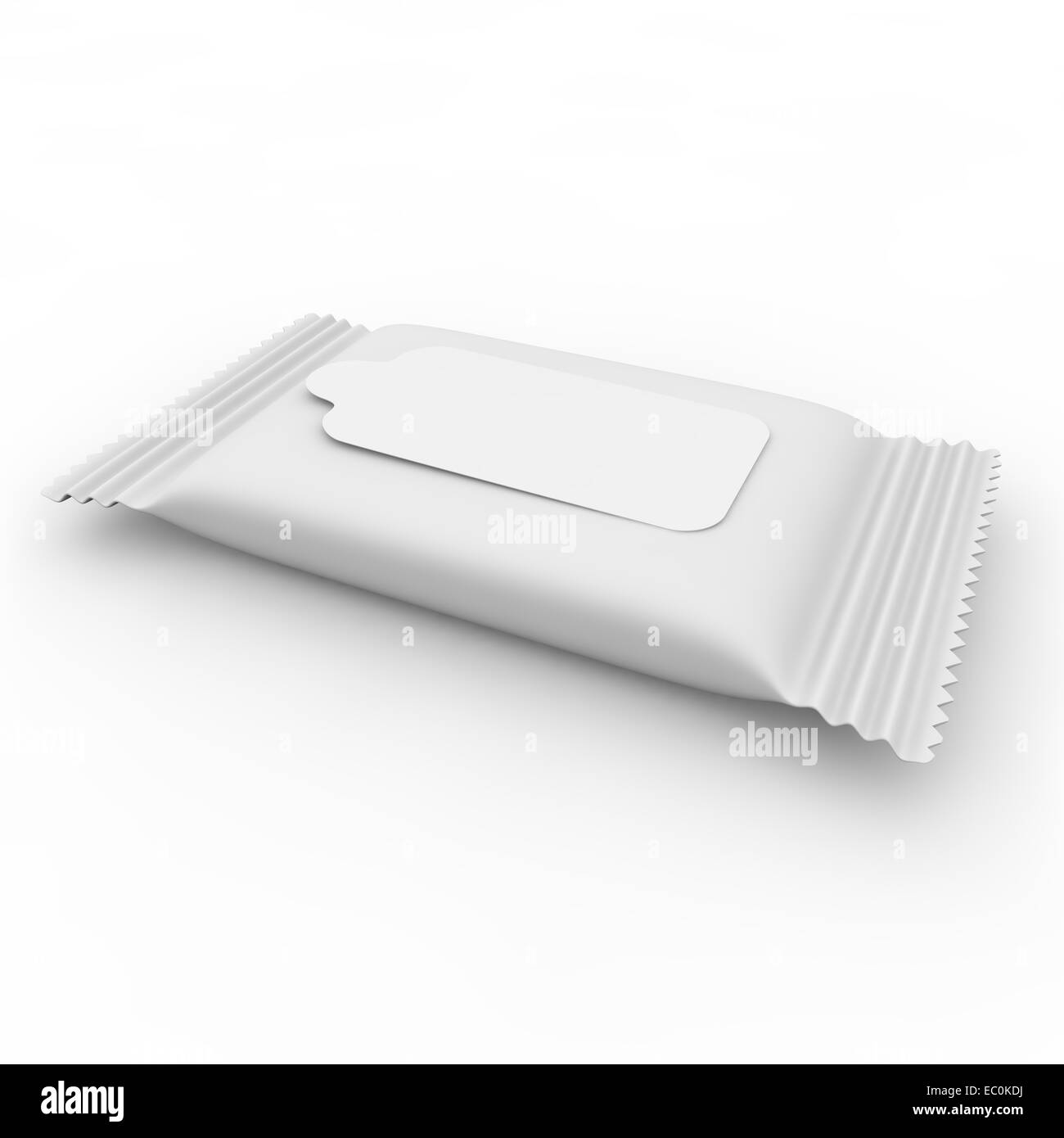White bag with velcro for napkins - Stock Image