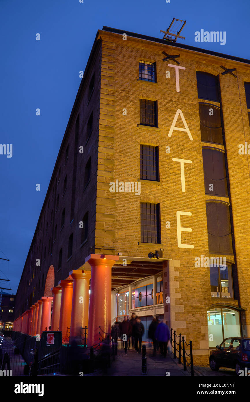 The Tate Liverpool building at the Albert Dock UK - Stock Image