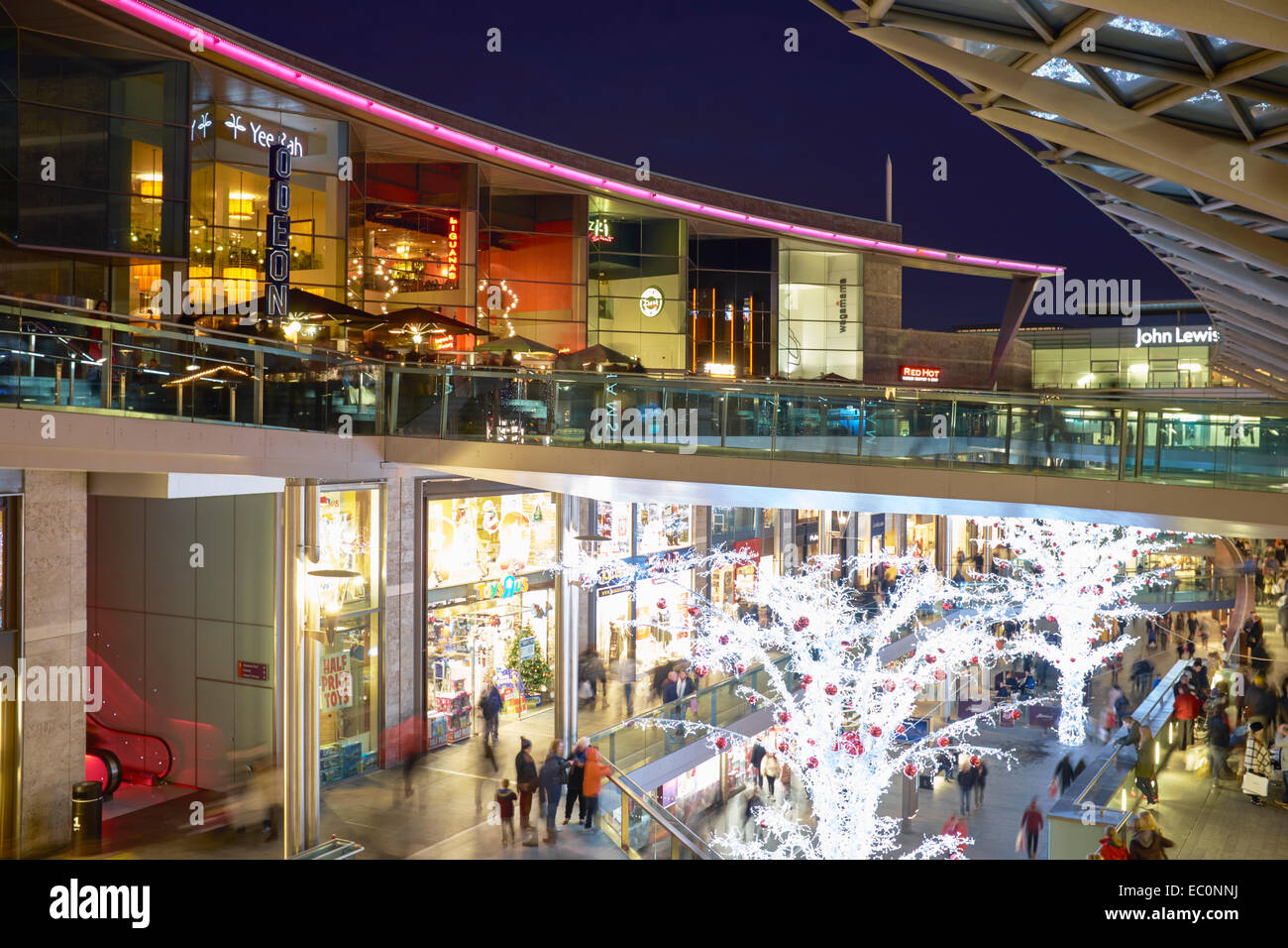 Christmas shopping at the Liverpool One retail development in Liverpool city centre UK Stock Photo