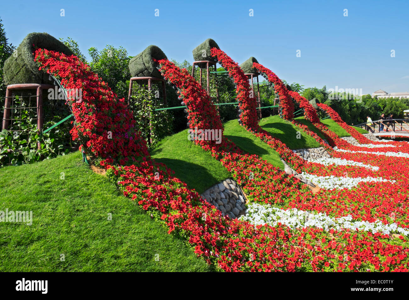 Garden And Landscaping View of flower displays and landscaping at miracle garden the stock view of flower displays and landscaping at miracle garden the worlds biggest flower garden in dubai united arab emirates workwithnaturefo