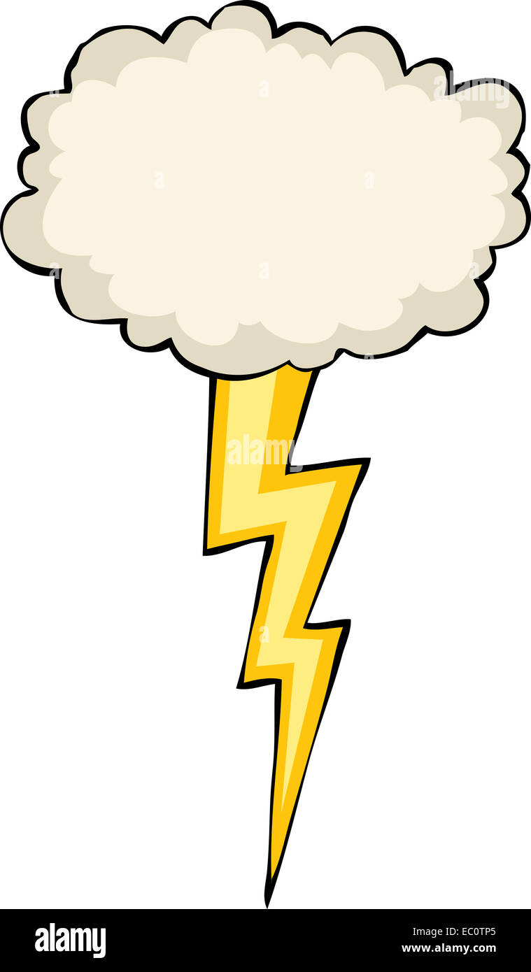 Cartoon Lightning Bolt Cloud Stock Photos & Cartoon Lightning Bolt ...