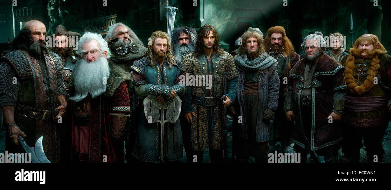 The Hobbit: The Battle of the Five Armies (previously known as The Hobbit: There and Back Again) is a 2014 epic - Stock Image