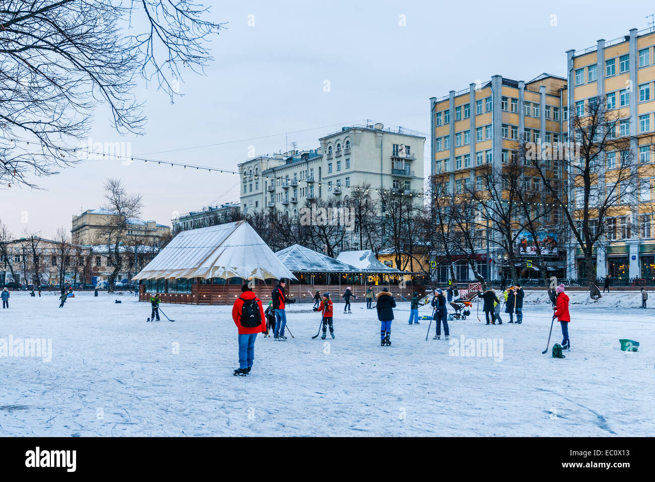 Moscow Russia 7th Dec 2014 Winter Season Is Opened In Moscow