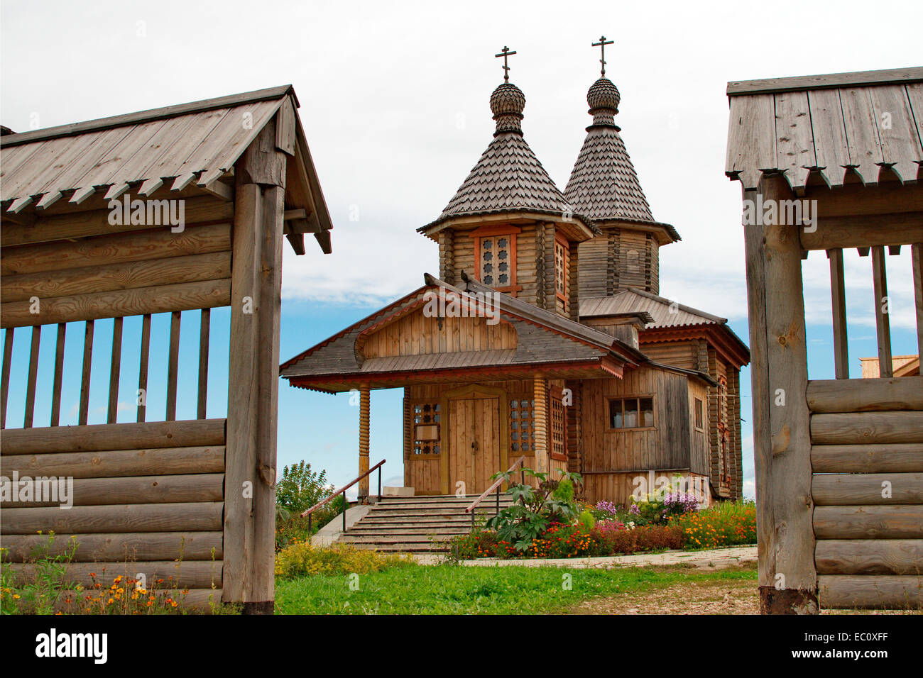 Russian Orthodox old believer Church in the name of the icon of the Theotokos joy of all who sorrow. Yoshkar-Ola. - Stock Image
