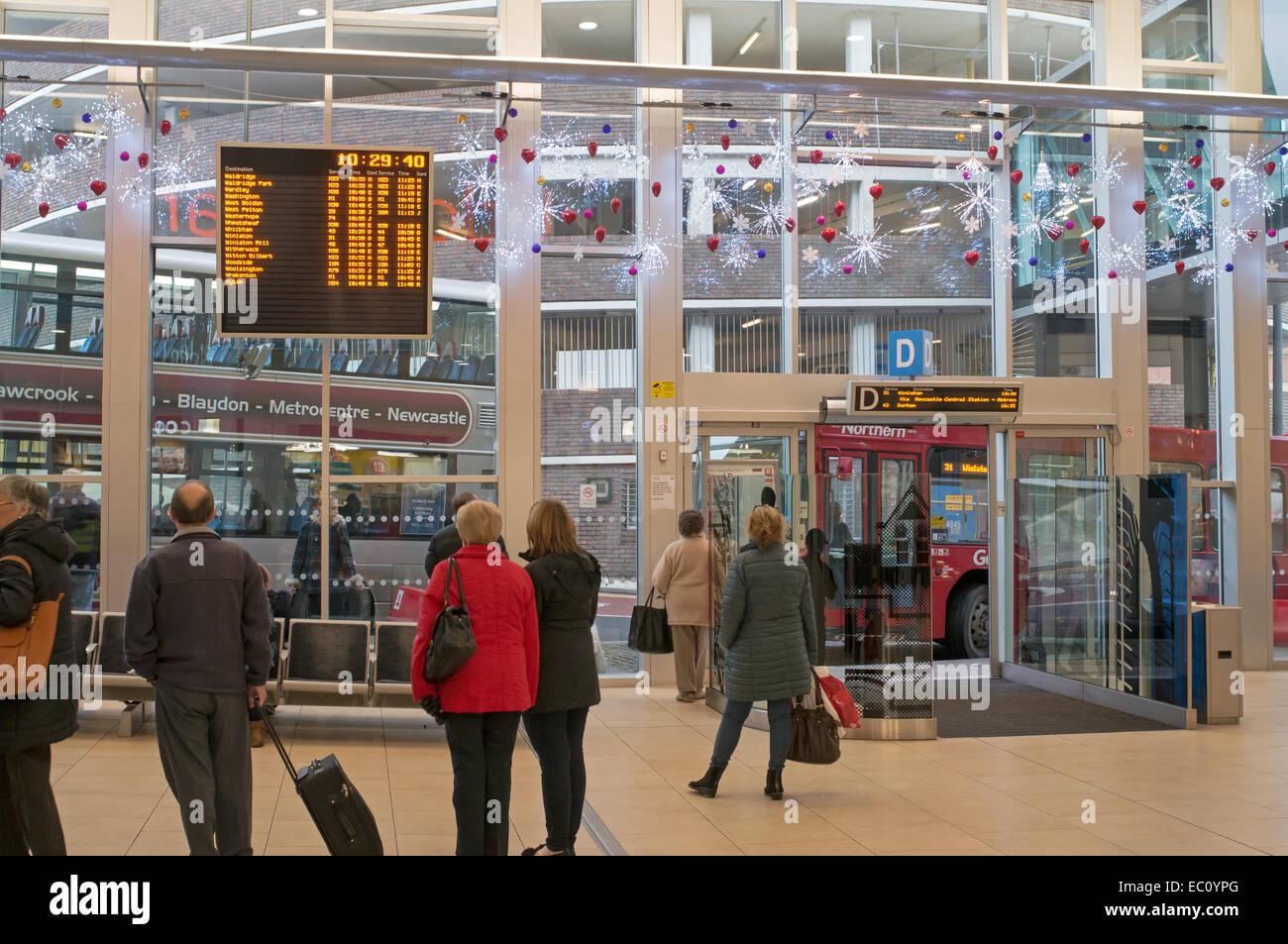 Eldon Square Bus Station Newcastle Upon Tyne North East England Uk