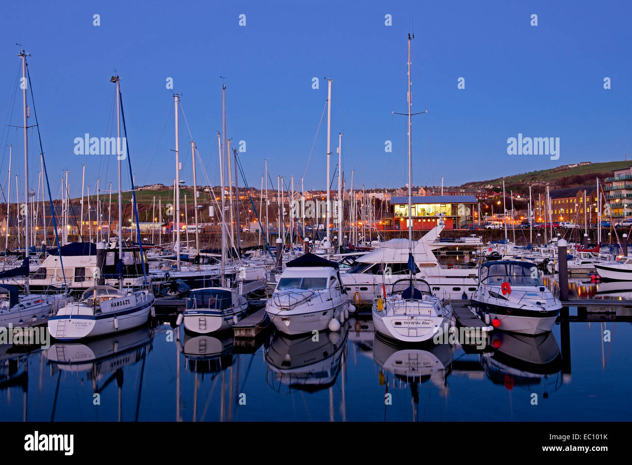 The marina, Whitehaven, West Cumbria, England UK - Stock Image