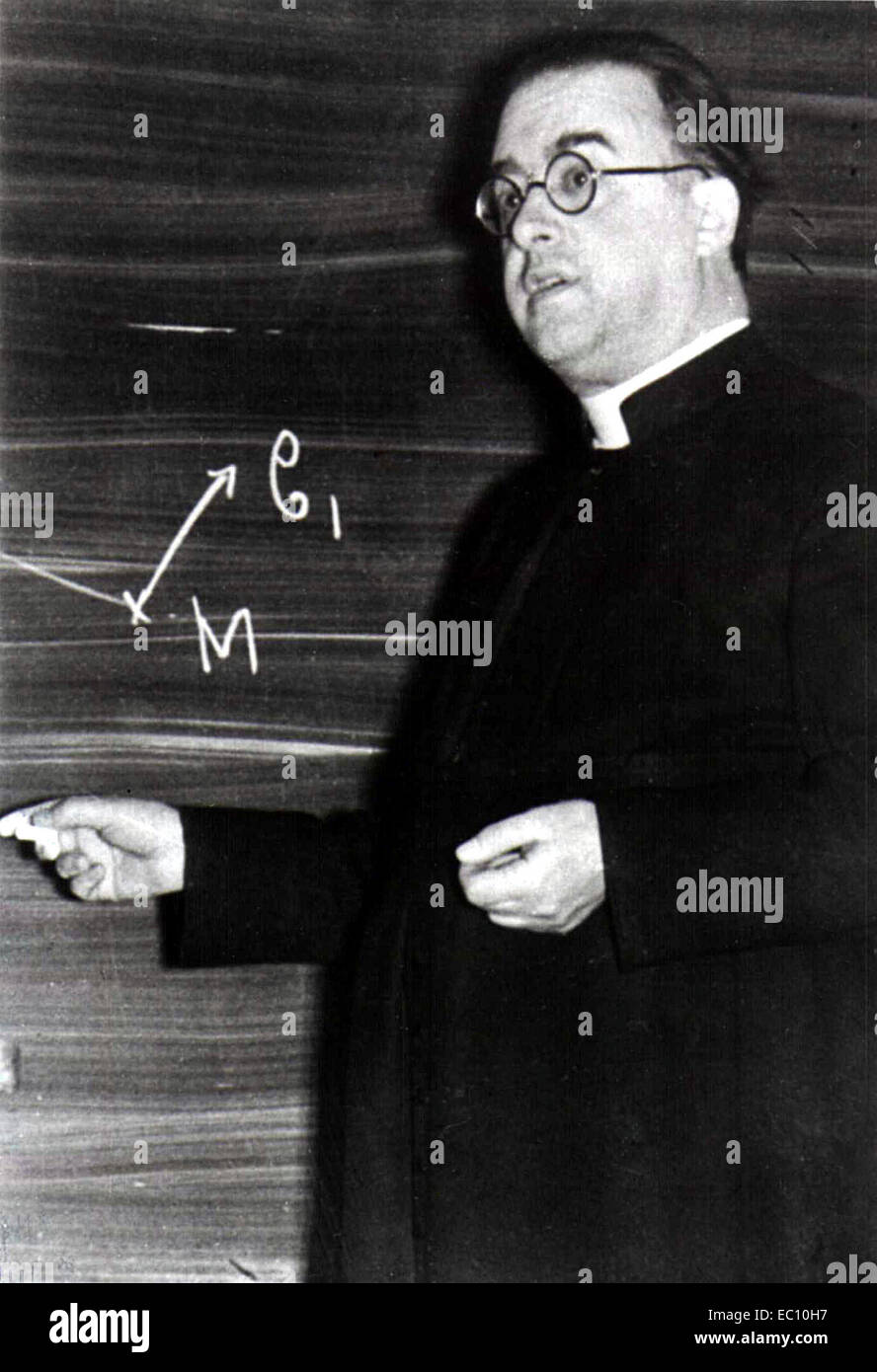 Georges Lemaître, Monseigneur Georges Henri Joseph Édouard Lemaître, Belgian priest, astronomer and professor of Stock Photo