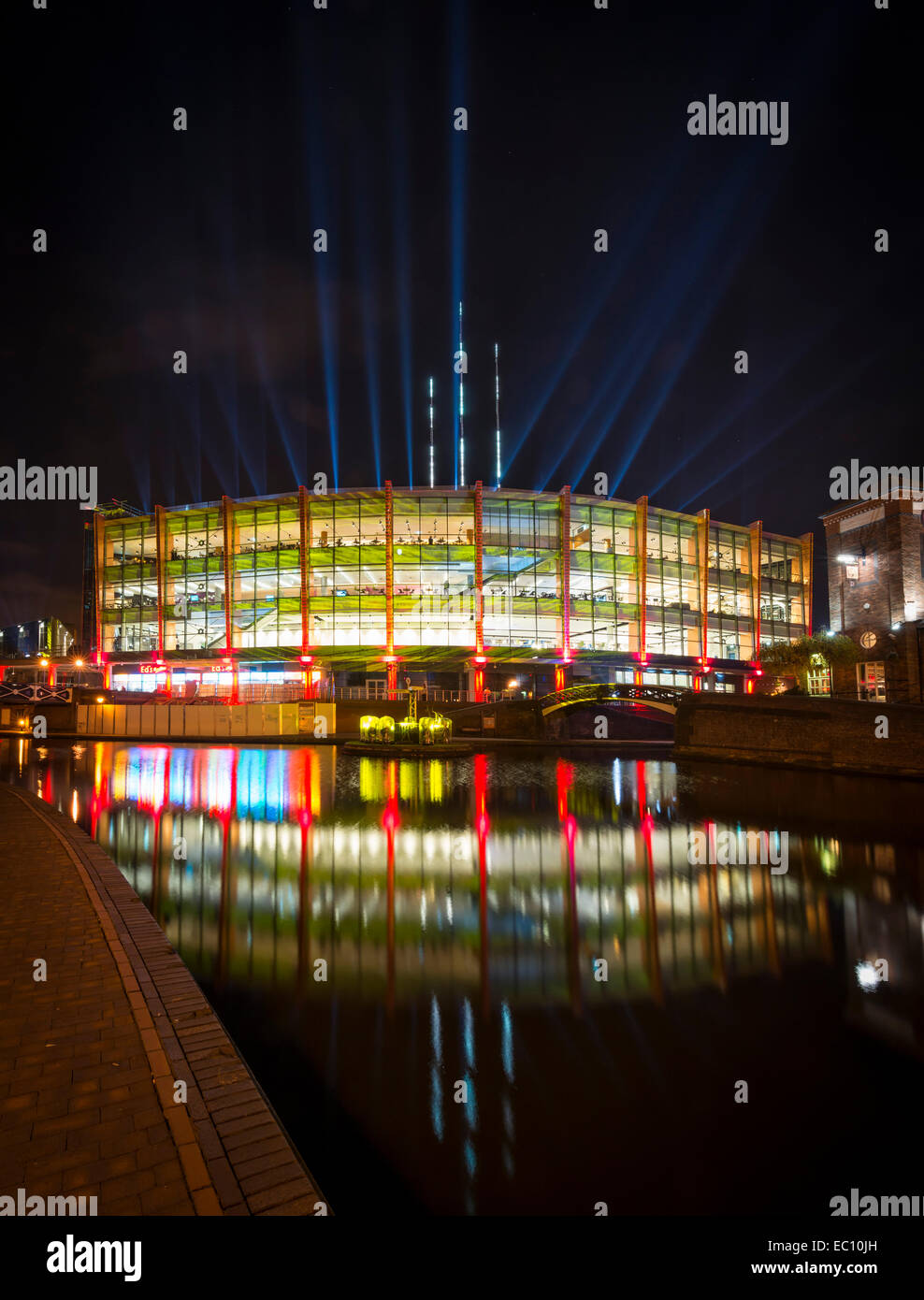 The National Indoor Arena: The NIA, Birmingham. The Barclaycard Arena is one of the busiest, large scale indoor - Stock Image