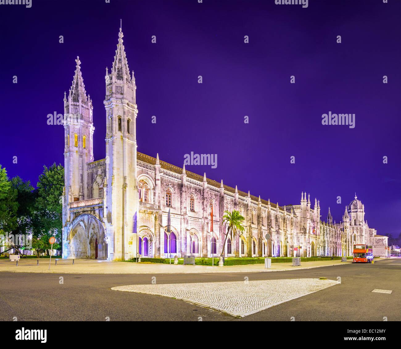 Belem, Lisbon, Portugal at Jeronimos Monastery. - Stock Image