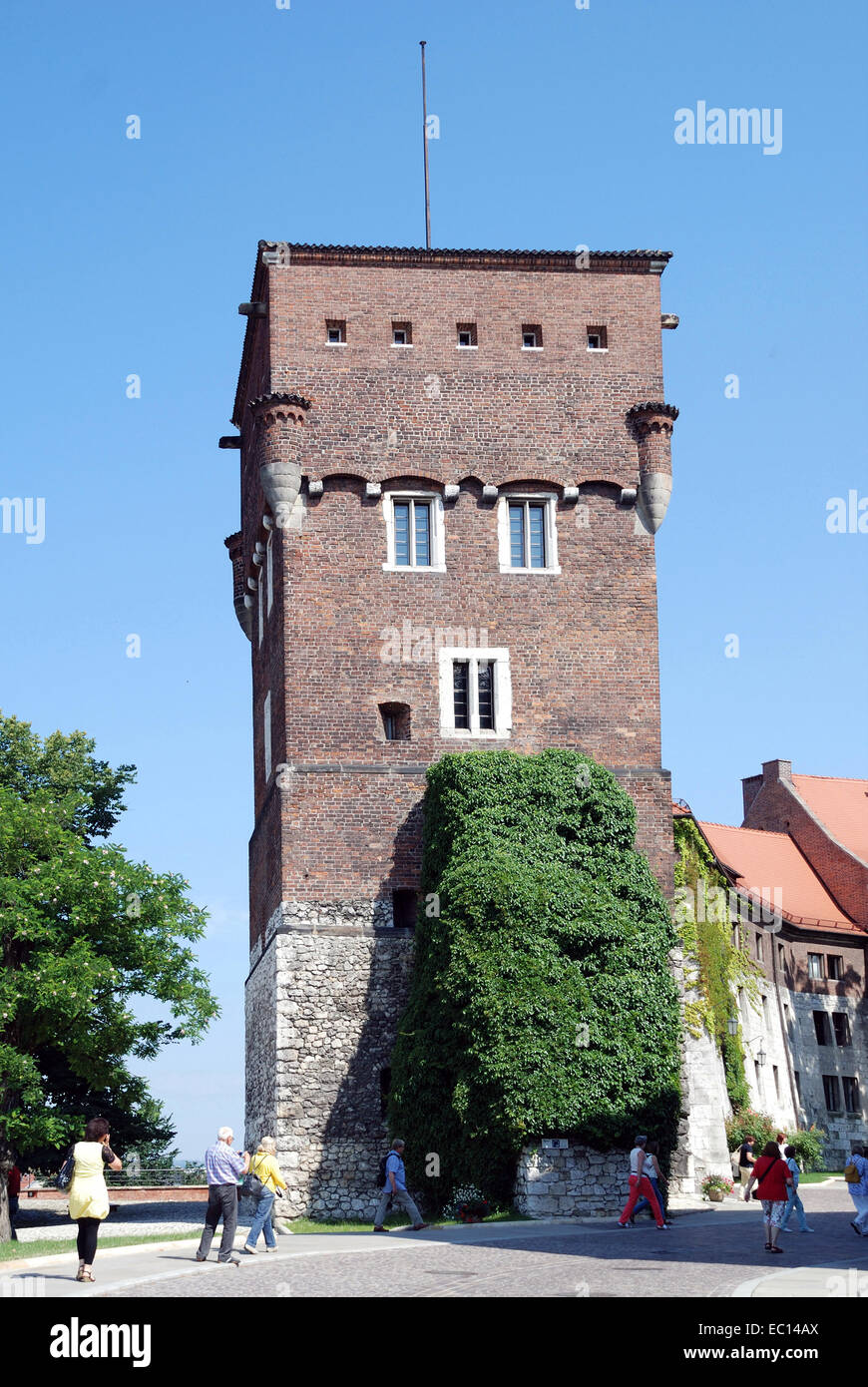 Watch tower on Wawel Hill of Krakow in Poland. - Stock Image