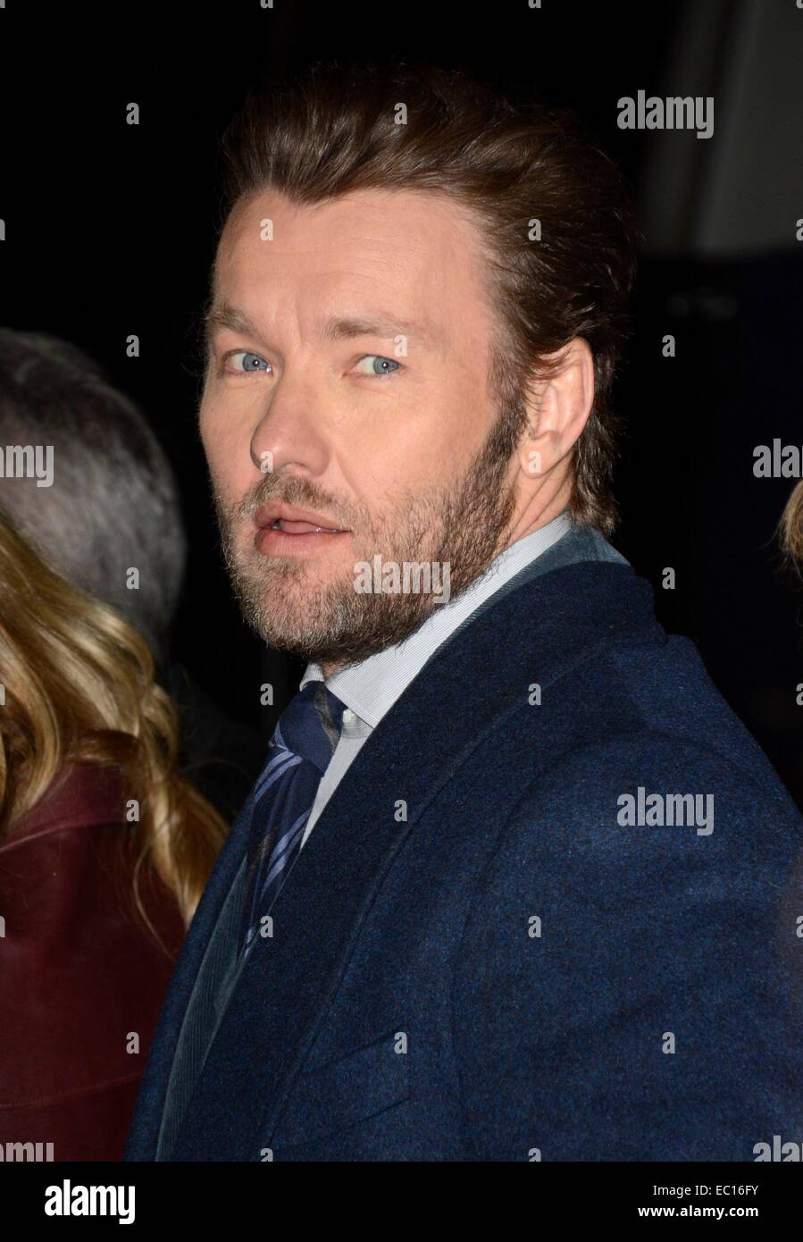 Brooklyn, NY, USA. 7th Dec, 2014. Joel Edgerton at arrivals for EXODUS: GODS AND KINGS Premiere, The Brooklyn Museum, - Stock Image