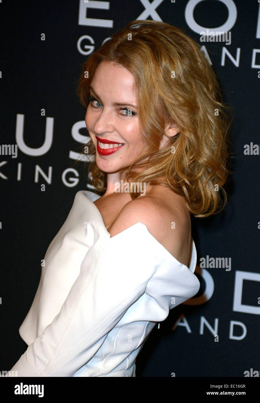 Brooklyn, NY, USA. 7th Dec, 2014. Kylie Minogue at arrivals for EXODUS: GODS AND KINGS Premiere, The Brooklyn Museum, - Stock Image