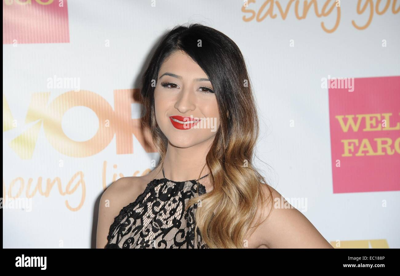 Los Angeles, CA, USA. 7th Dec, 2014. Mia at arrivals for The Trevor Project's TrevorLIVE Los Angeles Benefit, The Stock Photo