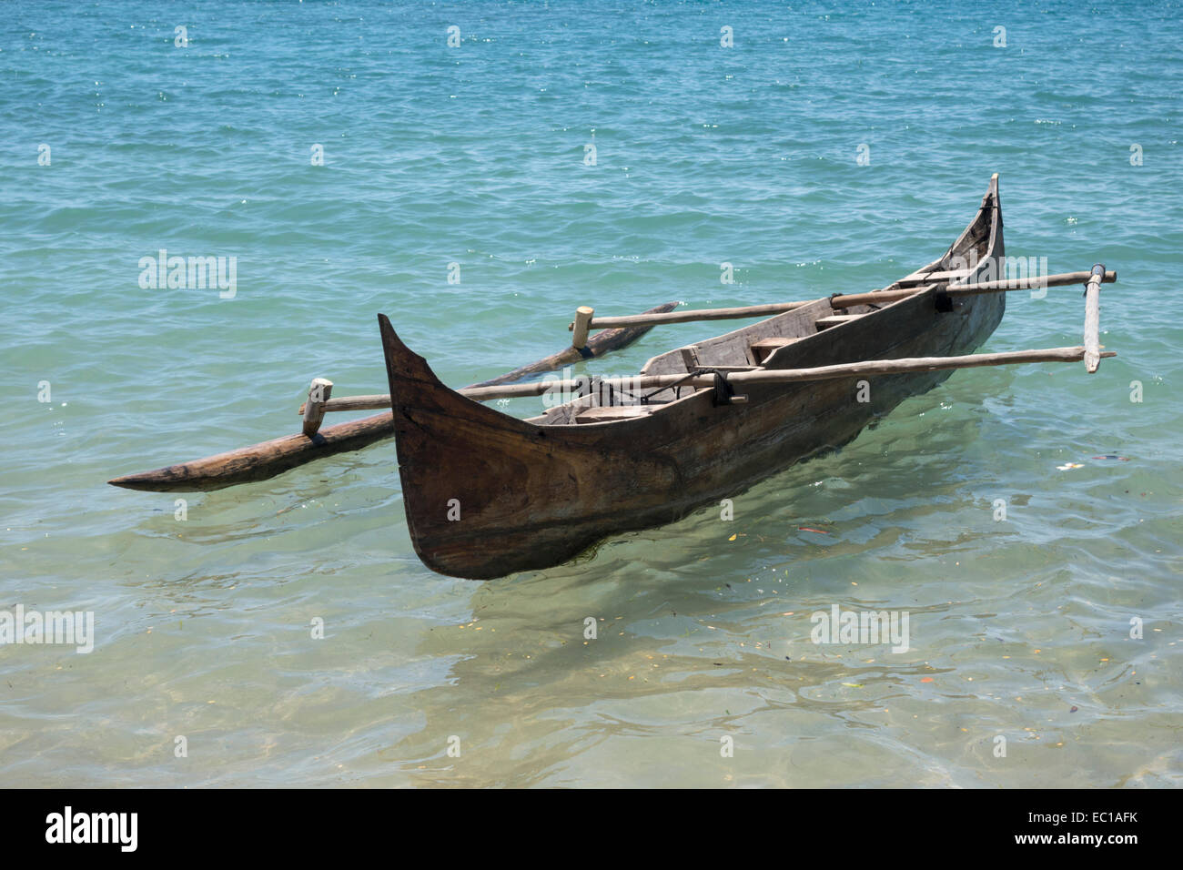 C Lion Outrigger Canoe Dugout canoe with outr...