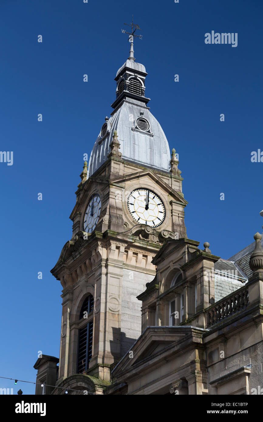 UK, Kendal, the Town hall clock tower. - Stock Image