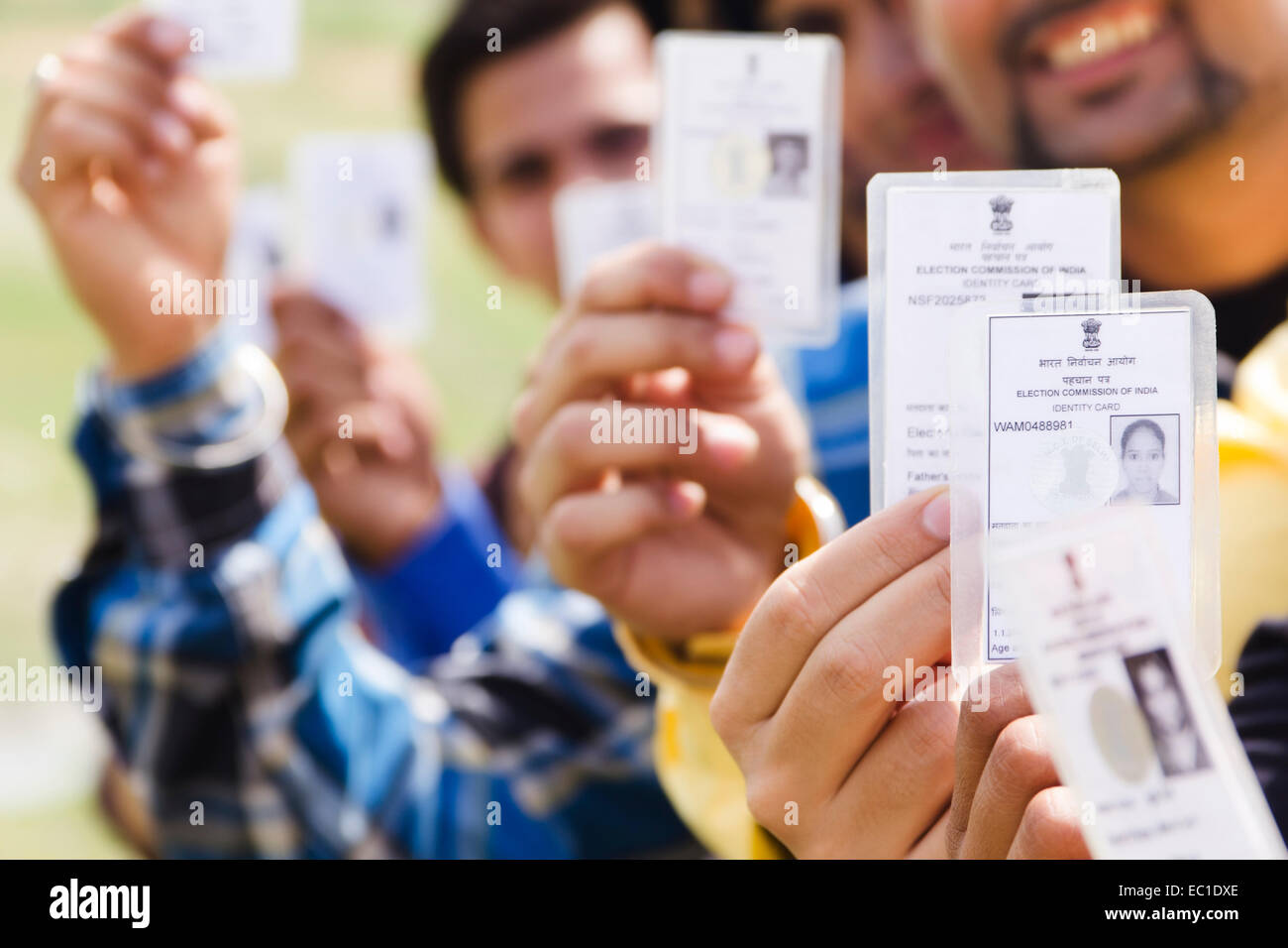voters id card stock photos voters id card stock images alamy