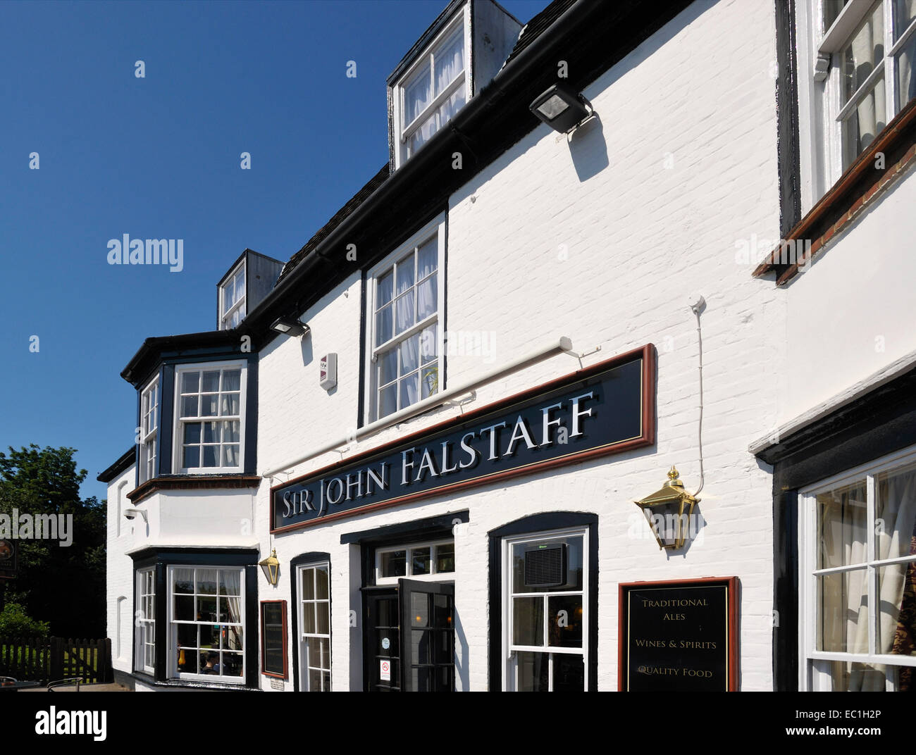 Sir John Falstaff Inn, opposite Charles Dickens's last home at Gad's Hill Place, Higham, , Rochester, Kent, and Stock Photo