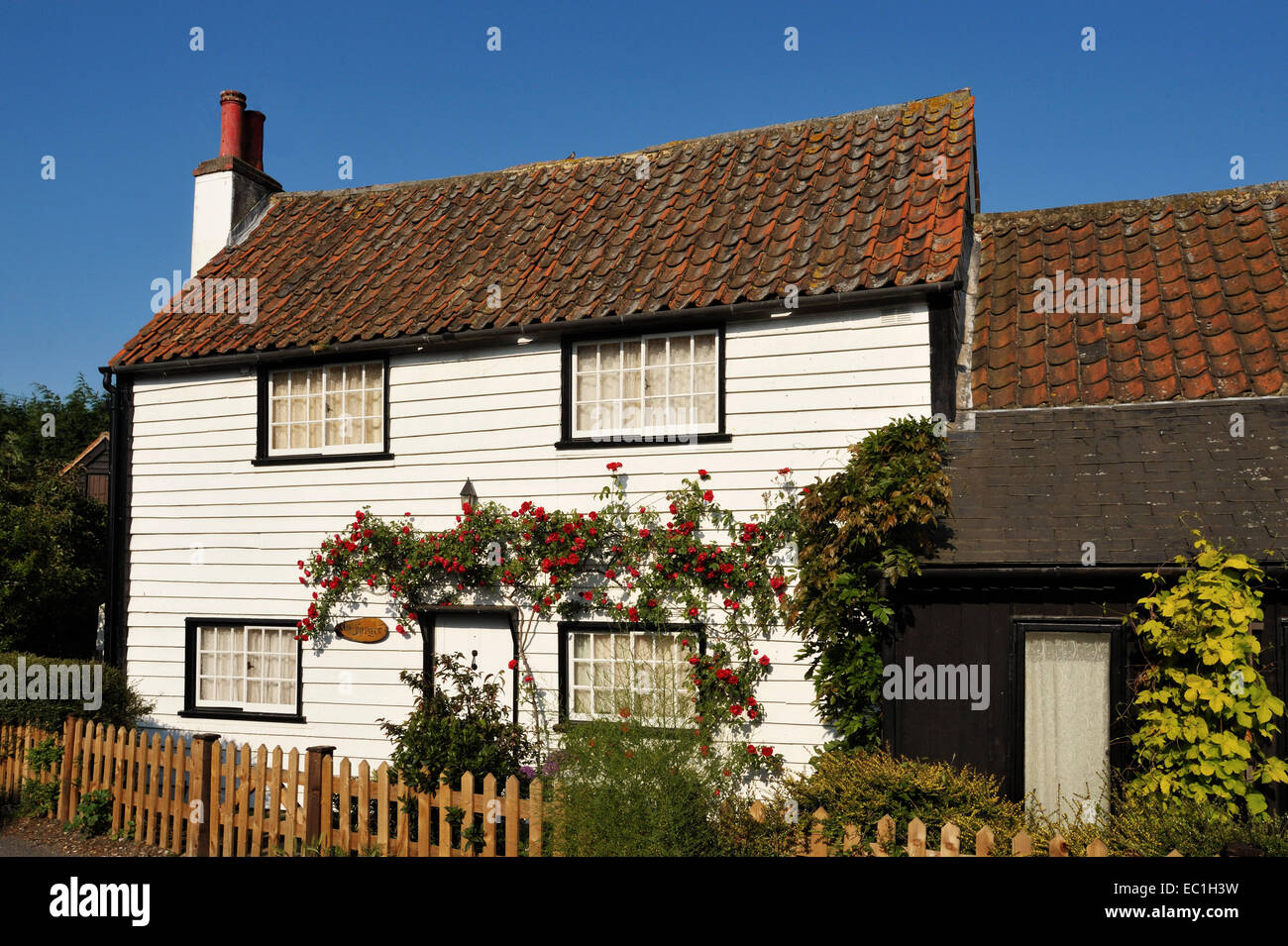 Joe Gargery's forge and blacksmith's cottage, from Great Expectations, at Chalk, near Rochester, Kent, where novelist - Stock Image