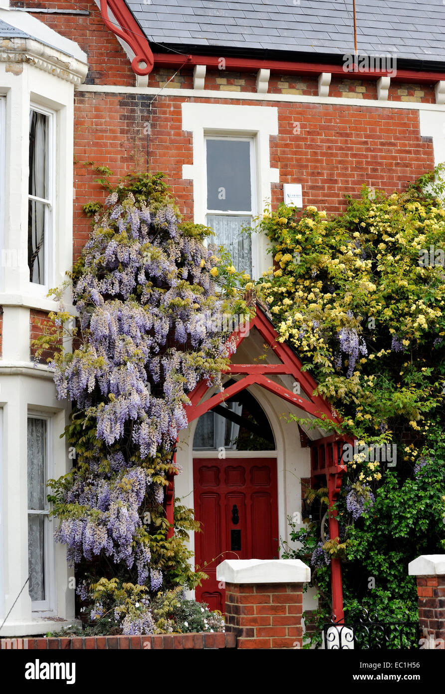 27 Victoria Grove, Southsea, Portsmouth. The home of Frances (Fanny) Eleanor Trollope (d.1913), traveller, writer - Stock Image