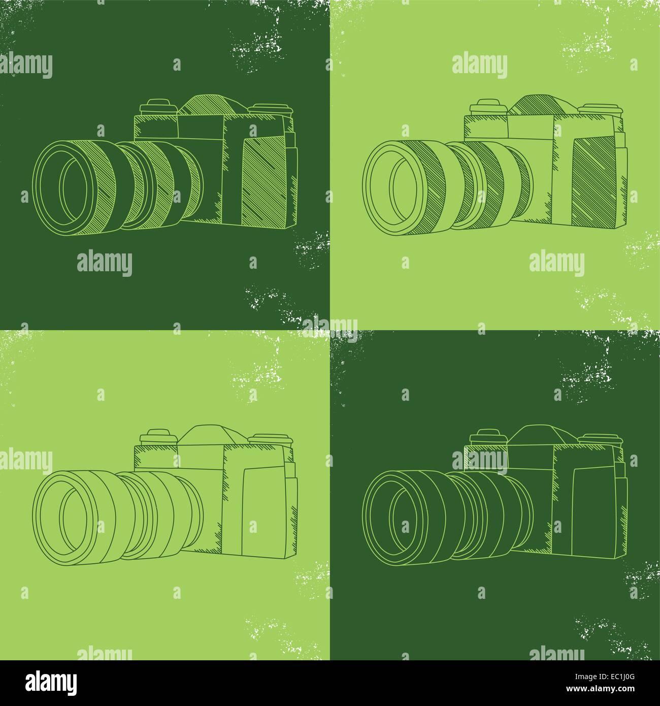 photo camera - Stock Vector