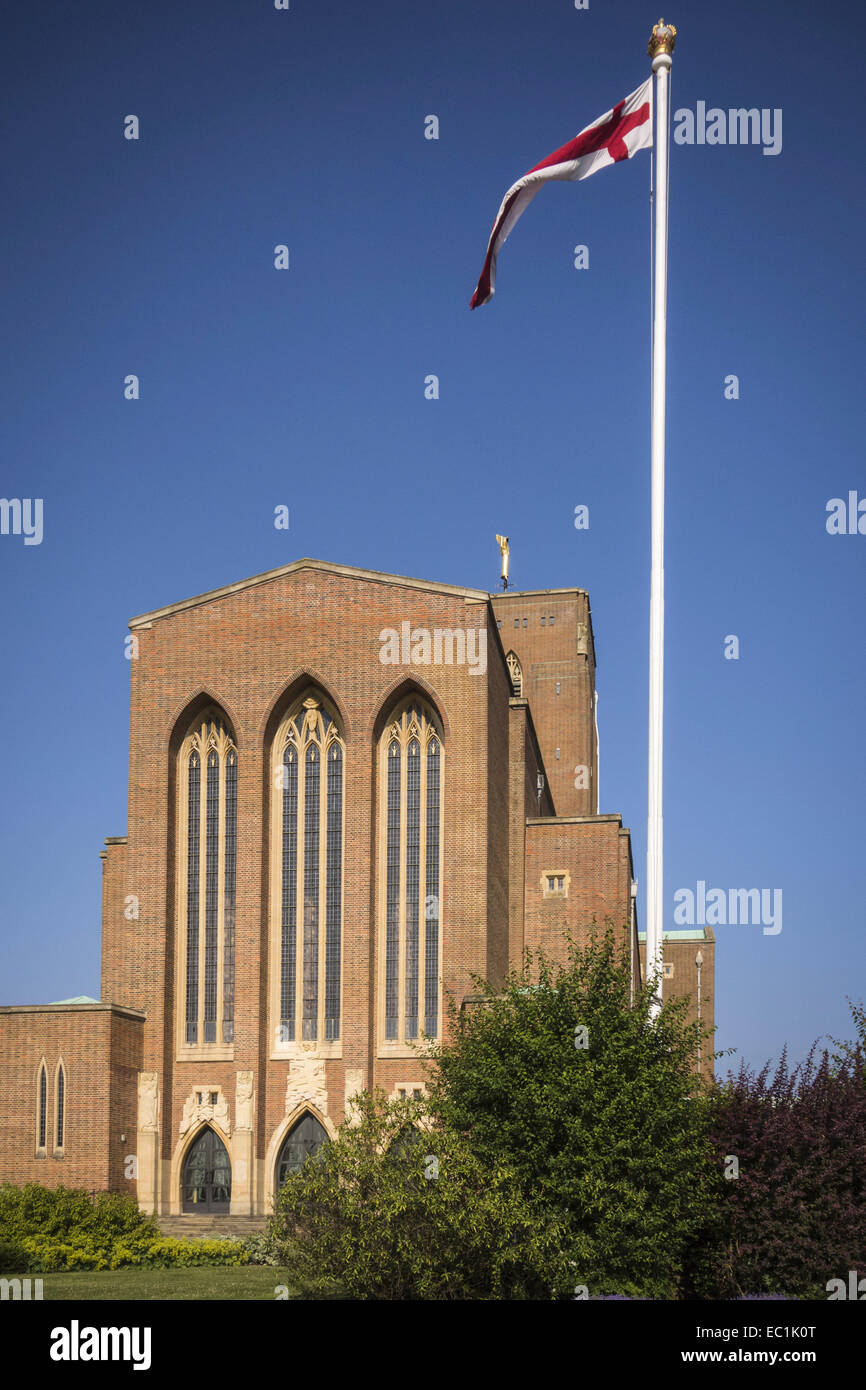 Guildford Cathedral, faade. Edward Maufe, MA FRIBA, appointed Cathedral Architect in 1933. Built 1955-1961. 20th - Stock Image