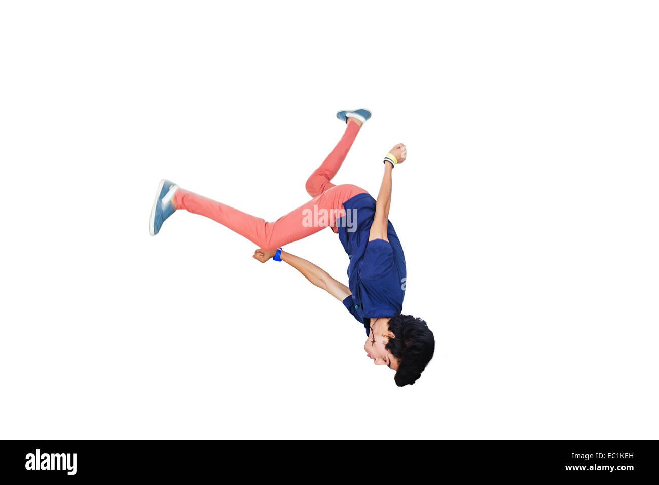 indian College boy Stunt - Stock Image