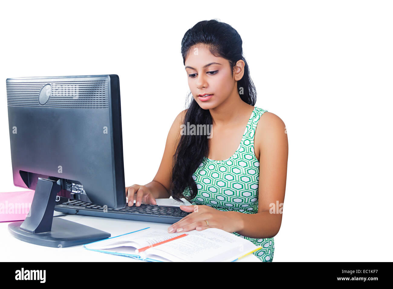 indian college girl study stock photo: 76254619 - alamy