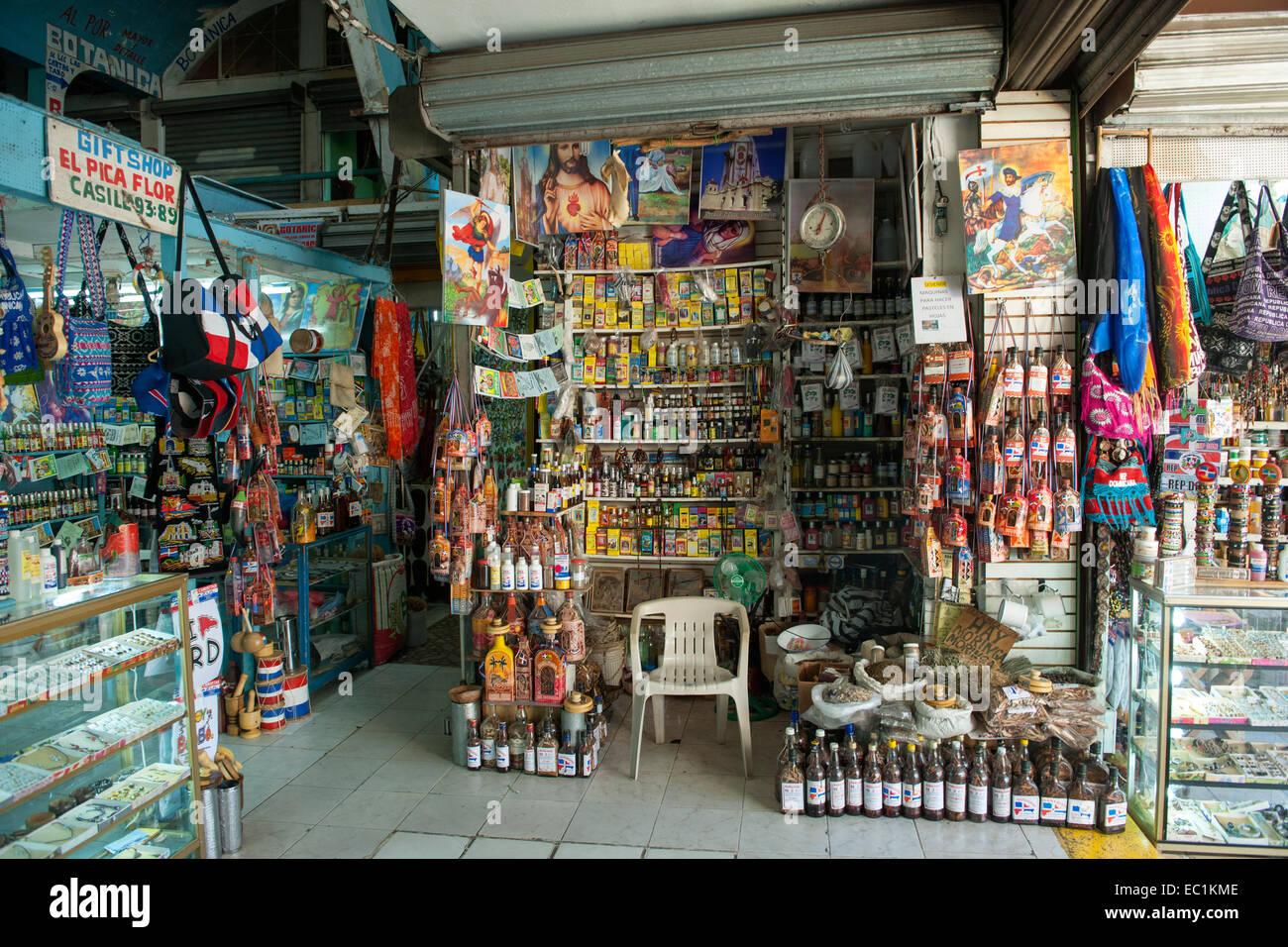 Dominikanische Republik, Santo Domingo, Zona Colonial, Mercado Modelo - Stock Image