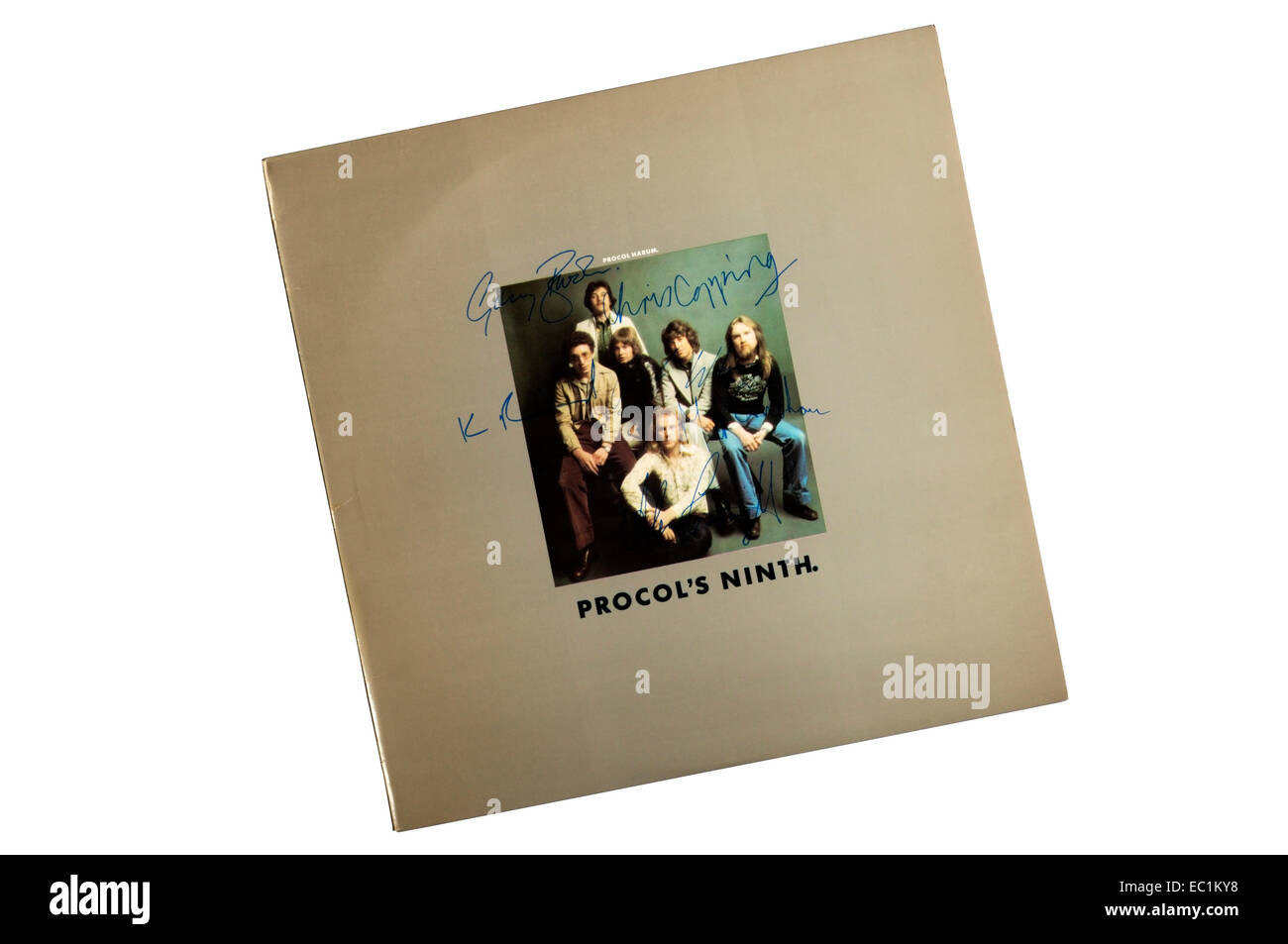 Unsurprisingly Procol's Ninth was the 9th album by Procol Harum. It was released in 1975. - Stock Image