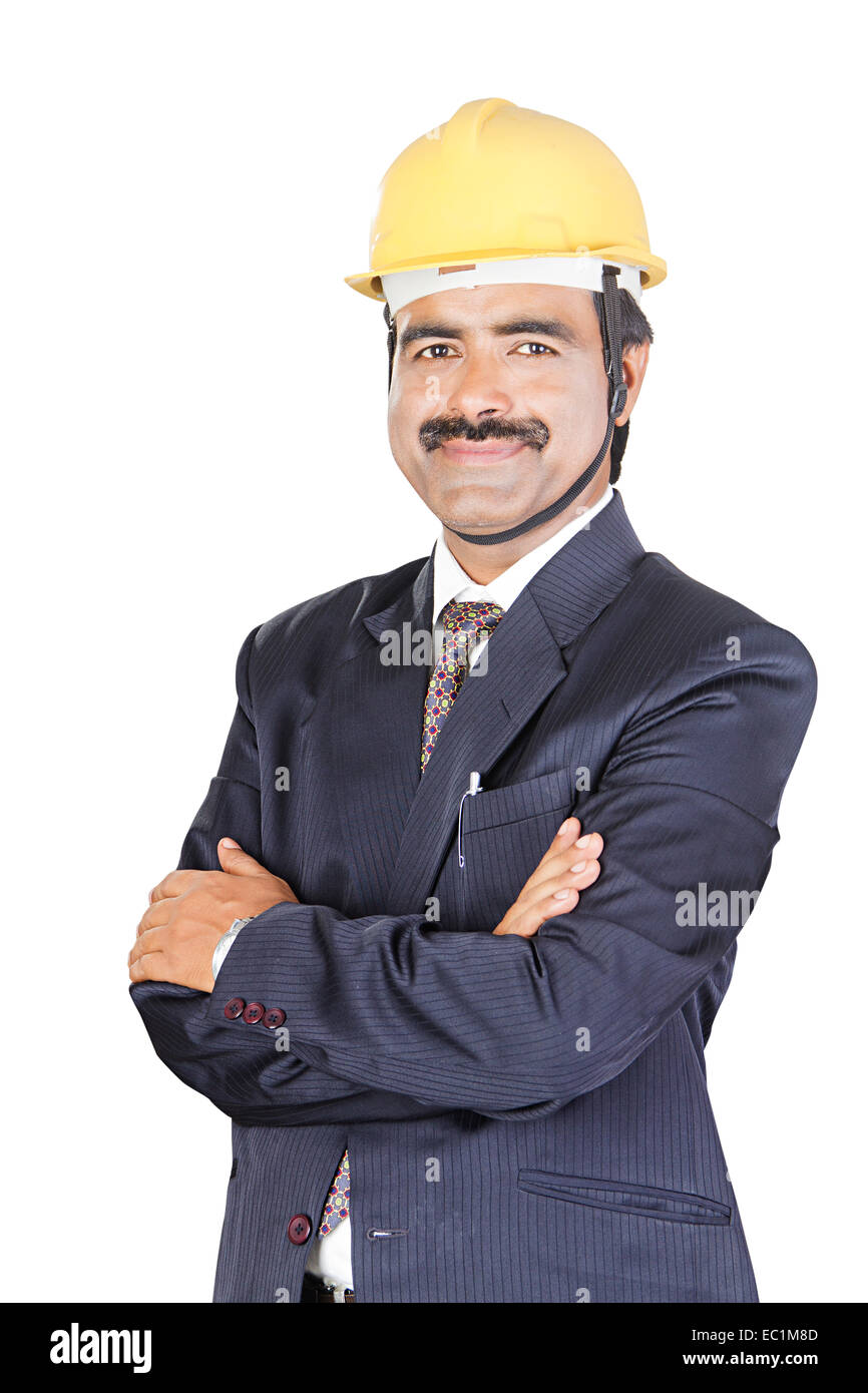 one indian man Engineer - Stock Image