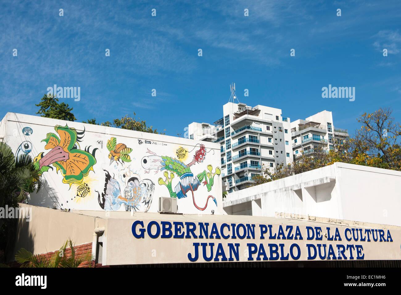 Dominikanische Republik, Santo Domingo, Parque de la Cultura, - Stock Image