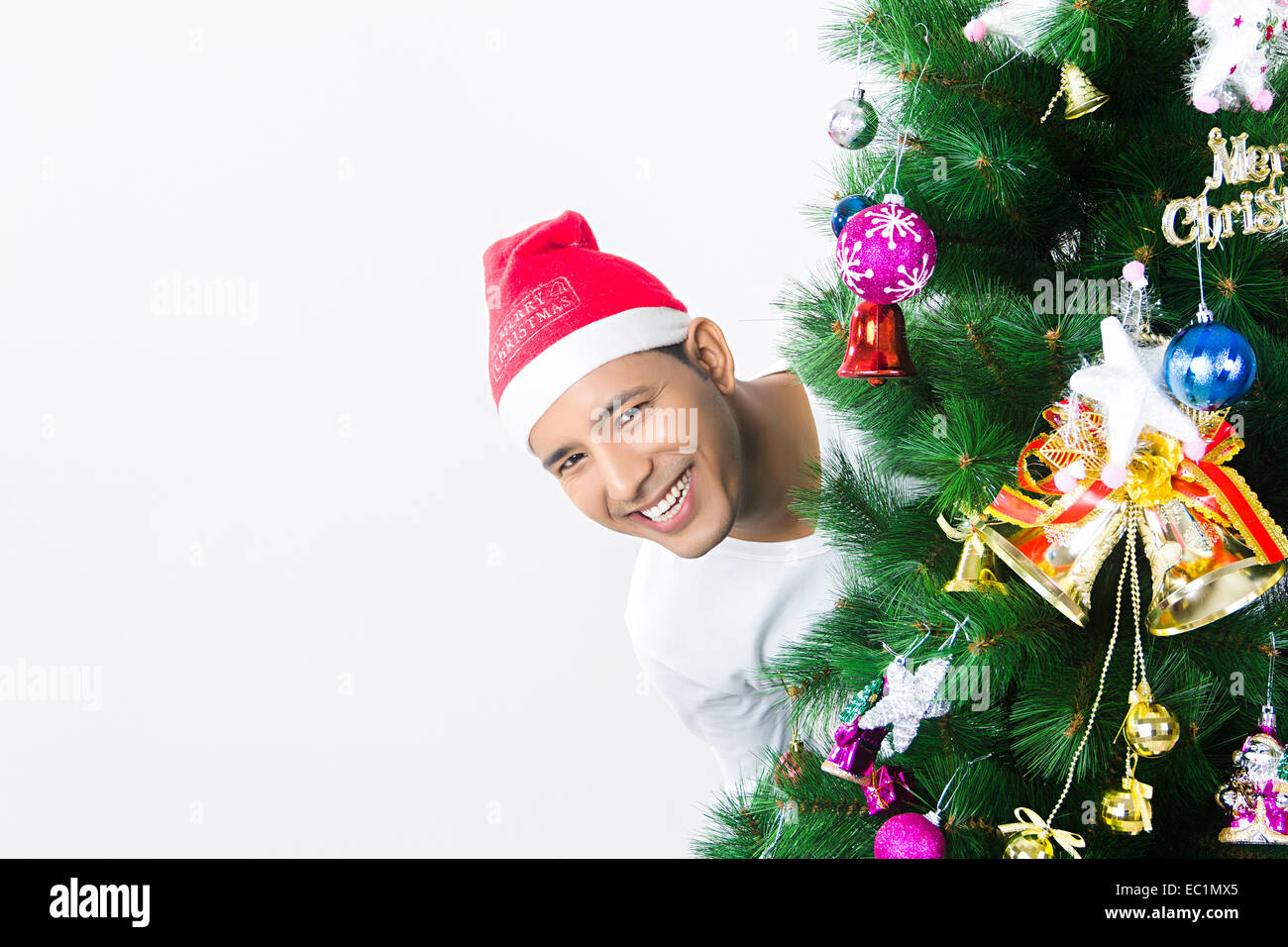 one indian man Christmas Festival enjoy Stock Photo: 76255709 - Alamy
