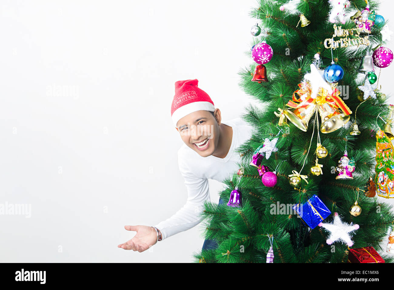 one indian man Christmas Festival enjoy Stock Photo: 76255710 - Alamy