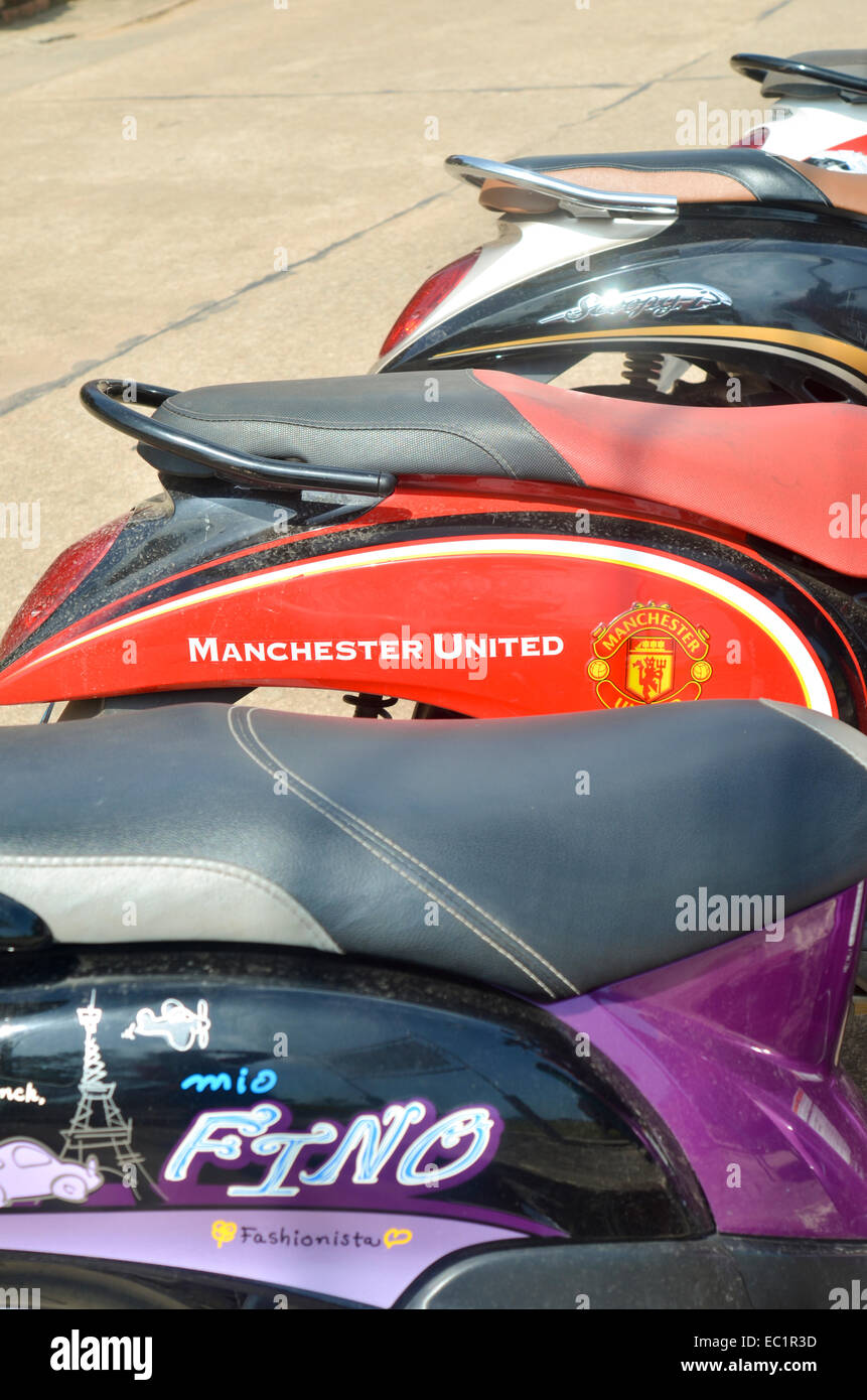 Scooter Motorcycle Moped With Manchester United Logo Design And