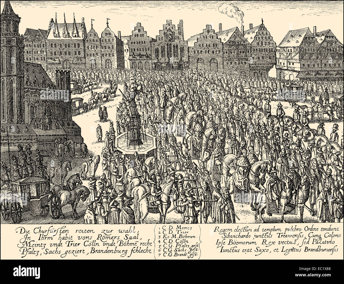 1619, The coronation of Ferdinand II, 1578 - 1637, Holy Roman Emperor,