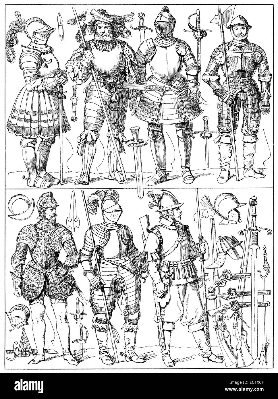 weapons of the 17th century, Germany, Europe, - Stock Image
