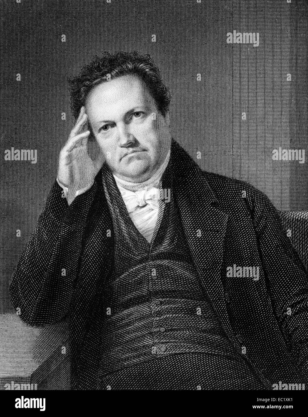 DeWitt Clinton (1769-1828) on engraving from 1835. American politician and naturalist. - Stock Image