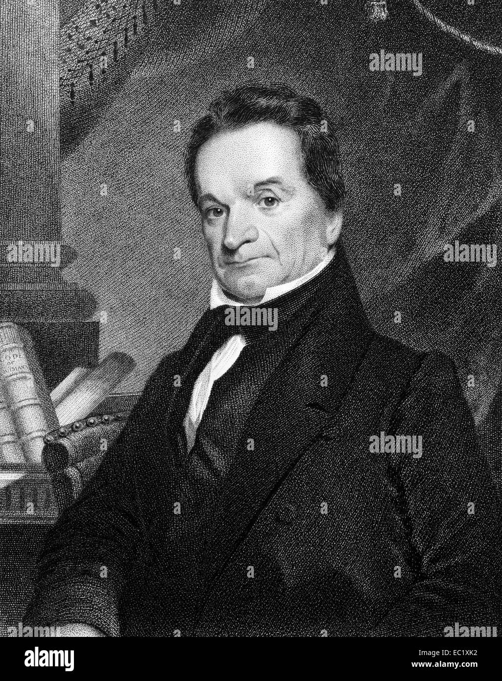 Edward Livingston (1764-1836) on engraving from 1834.  American jurist and statesman. Stock Photo