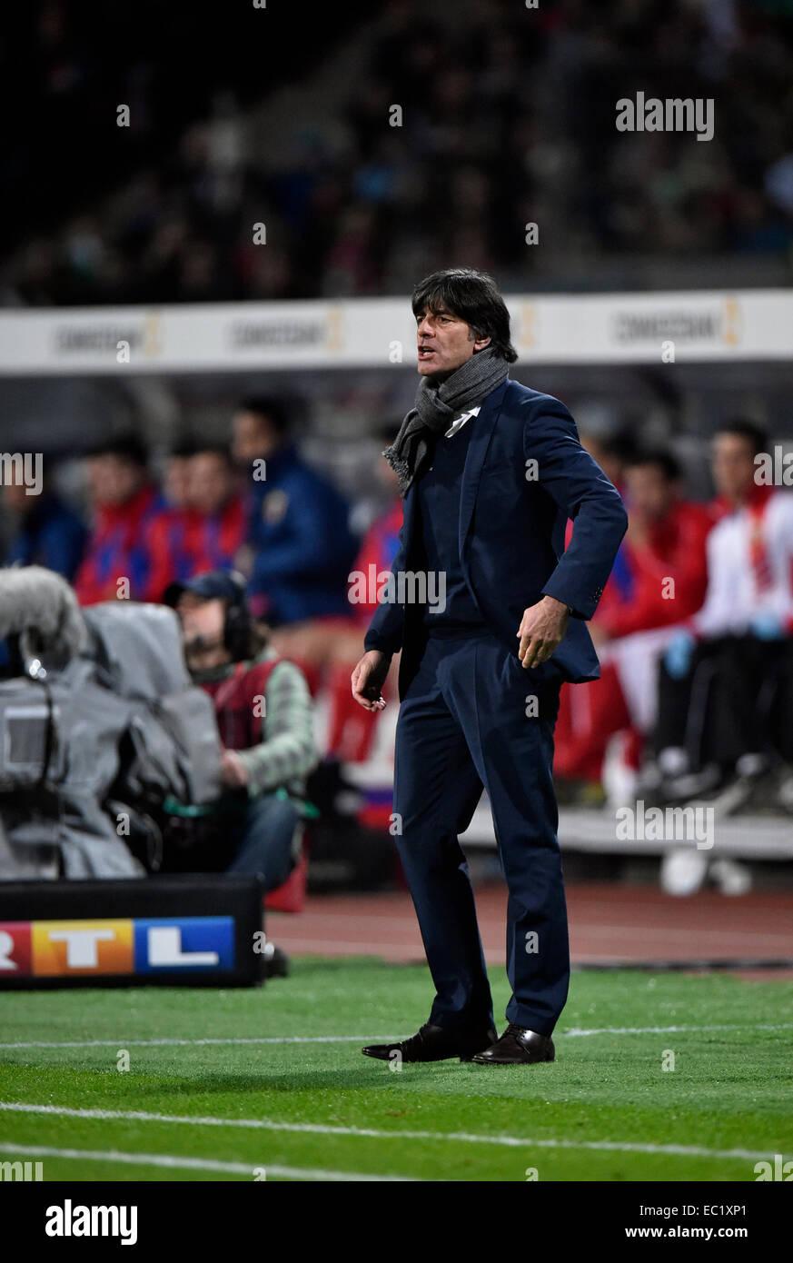 National coach Joachim Löw on the sidelines, Grundig Stadion, Nuremberg, Bavaria, Germany - Stock Image